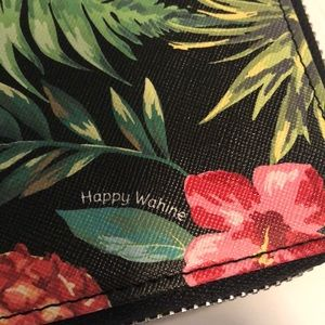 Happy Wahine floral wallet